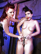 The Lady Susanna Deathstar catches Bloodangels Pupett and Jill trying to outsmart their chastity belts. See in this pictures, how they get a fair punishment.