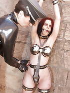 Slave education with chastity belt