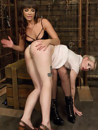 Ella Nova punished in Dana DeArmond's dungeon