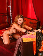Harem Slavegirl Strips and Cums, pic 5