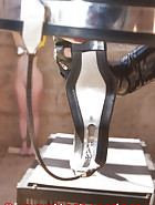 Slave education with chastity belt, pic 5