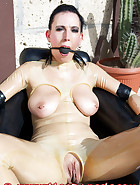 Tied on rubber chair, pic 2
