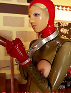 Open latex catsuit, pic 3