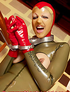 Open latex catsuit, pic 5