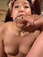 18 year old co-ed DP'd by 3 hot lezdoms, pic 14